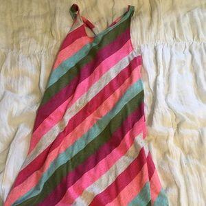multicolored striped long dress